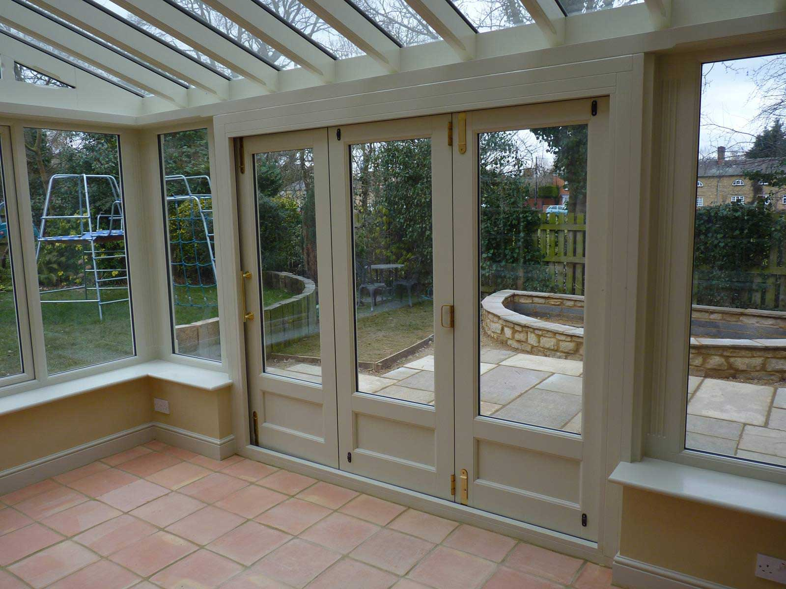 Choosing the material for your bi fold door frame bifold for Conservatory doors exterior
